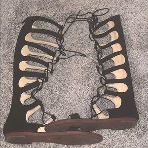 Chinese laundry black gladiator sandals